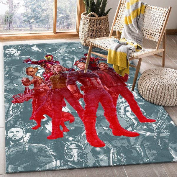 Avengers And Guardians Movie Area Rug Living Room Rug US Gift Decor
