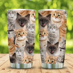 3D Picture Cats KD2 Custom Personalized Tumbler JE68961