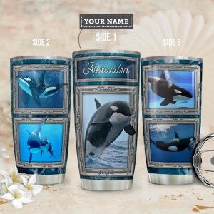 Killer Whale Personalized Custom Personalized Tumbler LY43230
