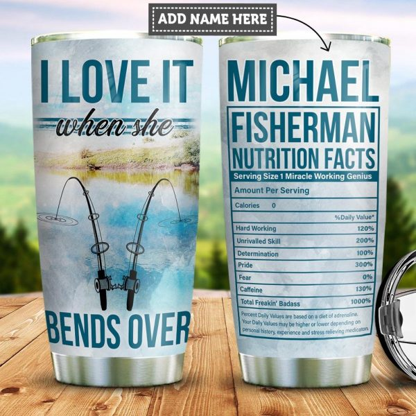 Personalized Fishing Facts Custom Personalized Tumbler QN72023