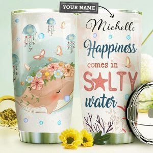 Spring Whale Personalized Custom Personalized Tumbler OX17516